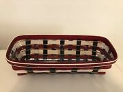 Longaberger Everyday Usa Mail/bill Basket Includes Protector