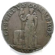 1794 W-8650 R-5 Pcgs F 15 No New York Talbot Allum And Lee Cent Colonial Coin