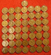 1923-s Lincoln Wheat Cent Penny 50 Coin Roll G-vf Great Collector Coins R1