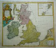 Antique Map Of Great Britain And Ireland By Johann Homann 1746