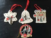 Christmas Coca Cola Itand039s A Wonderful Life Collectible Ornaments Set Of 4