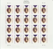 Military Purple Heart Medal Stamp Sheet -- Usa 5035 Forever 2014