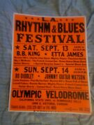 Bb King Bo Diddley Etta James Butterfield Cardboard Boxing Style Concert Poster
