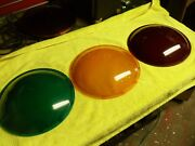 Gulf Western Eagle 12 Traffic Light Lenses Stop Go Caution Red Yellow Green Set