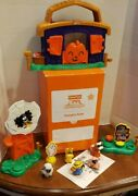Fisher Price Little People Halloween Pumpkin Party Set Complete With Box