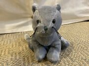 Webkinz Charcoal Cat - Good Used Condition - Gray Cat Grey Kitty Green Eyes Ganz