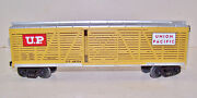 O Scale 3-rail Mth Rail King Stock Car Union Pacific Up 48204