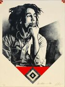 Shepard Fairey Catch A Fire Red Bob Marley Rare Obey Giant Poster Prints