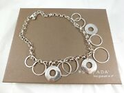Silpada Sterling Silver Hammered Ring Circle Rolo Chain Necklace N1325