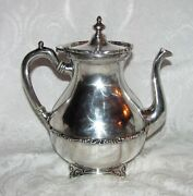 Vintage Mexican Taxco Sterling Silver Teapot Coffee Pot Mid 20th Century
