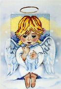 Angel Printed Cross Stitch Kit For Greeting Card - Orchidea 6230