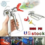 3600 Psi Spray Gun With 517 Tip And Guard Airless Paint For Sprayer Us