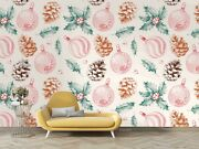 3d Pinecones Leaves Wallpaper Wall Mural Removable Self-adhesive Sticker