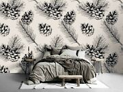 3d Pinecones Pattern Wallpaper Wall Mural Removable Self-adhesive Sticker