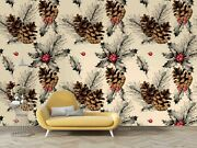 3d Autumn Pinecones Wallpaper Wall Mural Removable Self-adhesive Sticker