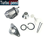 Ssqv Hks Bov Adapter Flange And Silver Blow Off Valve For 02-07 Wrx/sti