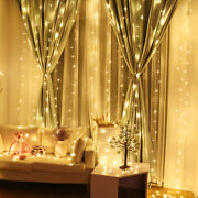 Led Fairy String Lights Hanging Icicle Curtain Lights Christmas Wedding Lamp New
