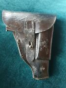 Original Holster For Walther Model 4 Browning 1910 Stamp Carl Bussey Mainz 1917