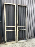 """Pair Vintage Farmhouse Style Screen Doors - Solid 88"""" X 24.5"""" Champfered Edge"""