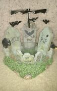 Yankee Candle Moving Cemetery Flying Bats Votive Holder 2008 Nwts