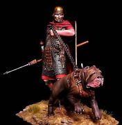 Tin Soldier 75 Mm Elite Luxury Painting In St.petersburg.roman Soldier With Dog