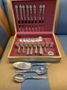 Rogers Bros 1847 Silverplated Heritage Silverware 52 Pieces With Tarnish Box