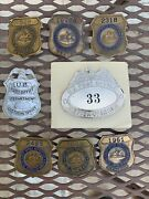 Vintage United States Post Office Badges And Pin Backs