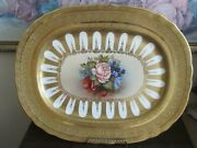 Rare Aynsley England Serving Platter Encrusted Gold Signed J A Bailey 15