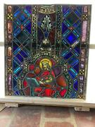 Antique German Stained Glass King Church Window From A Closed Church - X13
