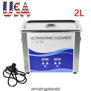 2l Ultrasonic Cleaner With Heating Bath F Metal/dental Tool/watches/glasses/coin