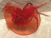 New Womenand039s Fascinator Hat Wedding Cocktail Derby Feathers Christmas Headband