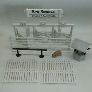 Marx Roy Rogers Double R Bar Ranch Play Set White Plastic Rodeo Chute Fencing