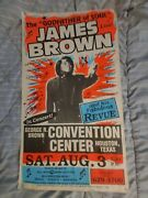 James Brown Autographed Signed Globe Cardboard Real Boxing Style Concert Poster