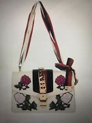 Authentic Sylvie Embroidered Small Shoulder Handbag