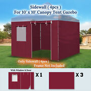 9.8x6.54' Sidewall Only With Zipper Door For 10'x10' Pop Up Canopy Party Tent