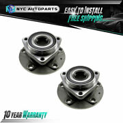 2pc Front Wheel Hub And Bearing Assembly For 2015 2016-2019 Audi A3 S3 / Vw Golf R