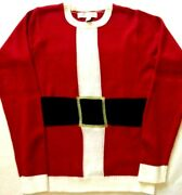Jolly Sweaters Santaand039s Coat Womenand039s Small 34-36 Ugly Christmas Pull Over Sweater