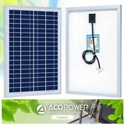Acopower 25w Polycrystalline Solar Panel Grade A Cells 12 Volt Battery Charger