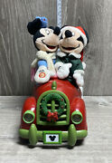 Gemmy Industries Lights Singing Disney Mickey Minnie Mouse Christmas Holiday Car