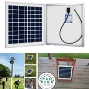 Acopower 15w Polycrystalline Solar Panel Grade A Cells 12v System Charger Kit