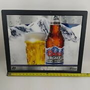 Coors Light On Draft Sign Lighted Electric Sign 22x19 Breweriana Man Cave Beer