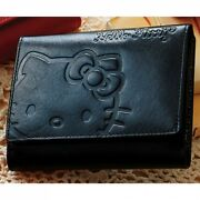 Hello Kitty Genuine Leather Cowhide Bifold Wallet Coin Case Purse Gift B5562