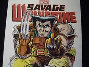 Savage Wolverine Blank Sketch Variant Comic... Issue 006 Signed With C.o.a