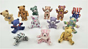 Franklin Mint Teddy Bears The Americana Collection Bear Figurines Lot Of 13