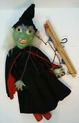 Rare Witch, Hag. Halloween. Wicked Witch Of The West. Marionette Puppet. Pelham