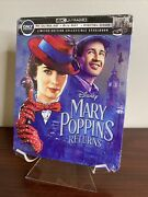 Mary Poppins Returns Steelbook 4k Uhd+blu-ray+digital Factory Sealed Sold Out