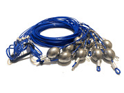 48 12oz Egg Sinker Pvc Coated Cable Texas Rig Style Decoy Rigs