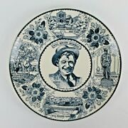 Vintage Will Rogers Fine American Ironstone Memorial Collector Plate - Oklahoma