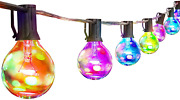 String Lights Vintage Edison G40 Clear Globe Bulbs Led Dimmable 5 Color Palawell