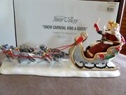 Dept 56 Snow Carnival King And Queen And Husky Sled Dogs New Orig Box Great